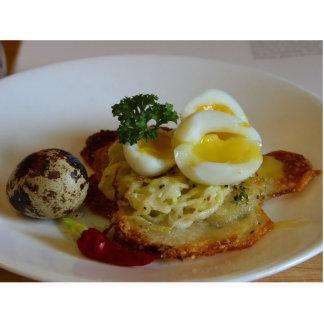 Patata Galettes con los huevos de codornices Fotoescultura Vertical