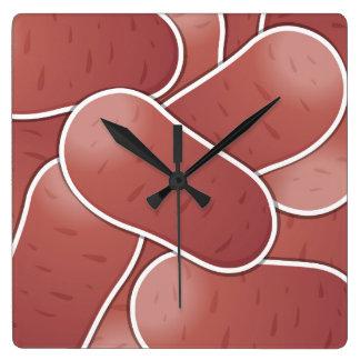 Patata rosada enrrollada reloj cuadrado