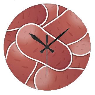 Patata rosada enrrollada reloj redondo grande
