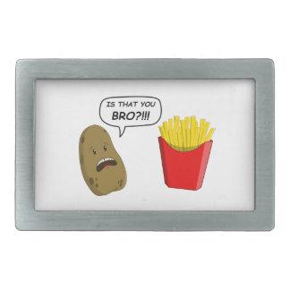 patata y fritadas hebilla de cinturón rectangular