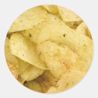 Patatas a la inglesa amarillas como fondo pegatinas