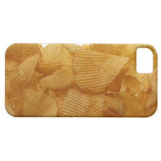 Patatas a la inglesa de patata en el fondo blanco, iPhone 5 carcasa