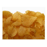 Patatas a la inglesa de patata en el fondo blanco, postal