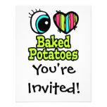 Patatas cocidas amor brillante del corazón I del o