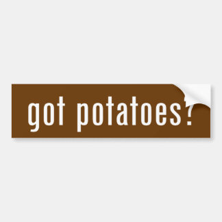 ¿patatas conseguidas? pegatina para auto