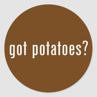 ¿patatas conseguidas? pegatina redonda