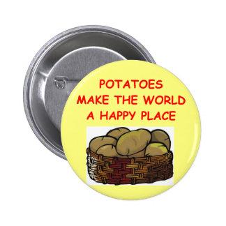 patatas de la patata pin redondo de 2 pulgadas