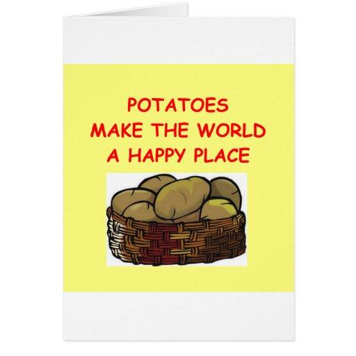patatas de la patata tarjeta de felicitación