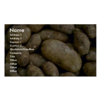 Patatas deliciosas tarjetas de visita