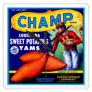 Patatas dulces del campeón reloj cuadrado