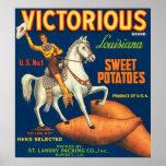 Patatas dulces victoriosas impresiones