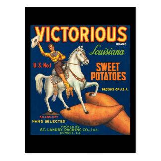 Patatas dulces victoriosas postales