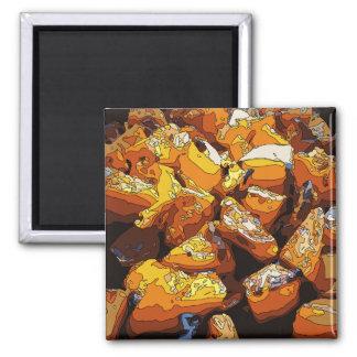 Patatas dulces y pasas cocidas sabrosas imanes de nevera