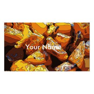 Patatas dulces y pasas cocidas sabrosas tarjetas de visita