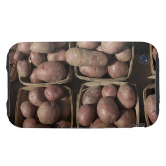 Patatas en el mercado de un granjero de New Jersey iPhone 3 Tough Cárcasas