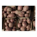Patatas en el mercado de un granjero de New Jersey Postal