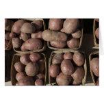 Patatas en el mercado de un granjero de New Jersey Tarjeta De Felicitación