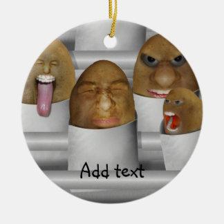 Patatas en la línea ornaments para arbol de navidad
