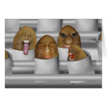 Patatas en la línea tarjeta de felicitación