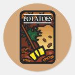 Patatas Etiquetas Redondas