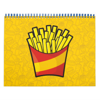 Patatas fritas calendario de pared