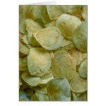 Patatas fritas curruscantes felicitaciones