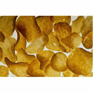 Patatas fritas curruscantes fotoescultura vertical