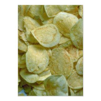 Patatas fritas curruscantes anuncio personalizado
