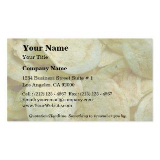 Patatas fritas curruscantes tarjetas de visita