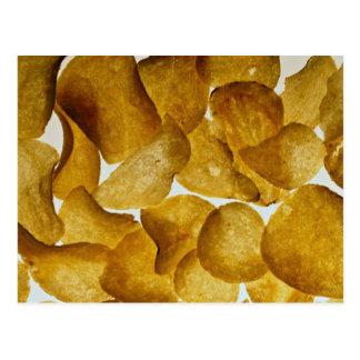 Patatas fritas curruscantes tarjetas postales