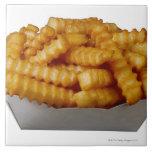 patatas fritas del Arruga-cut Azulejo Cuadrado Grande