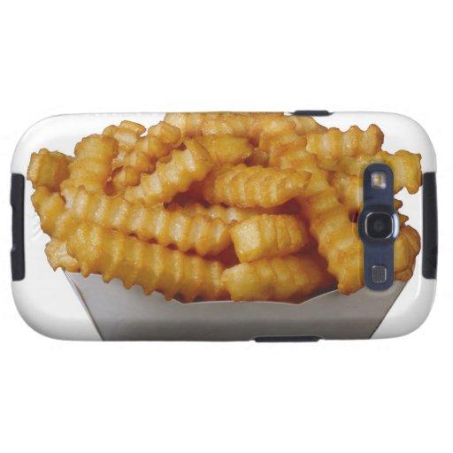 patatas fritas del Arruga-cut Galaxy SIII Coberturas