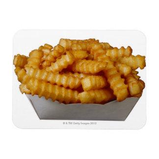 patatas fritas del Arruga-cut Iman Rectangular