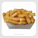 patatas fritas del Arruga-cut Pegatina Cuadrada
