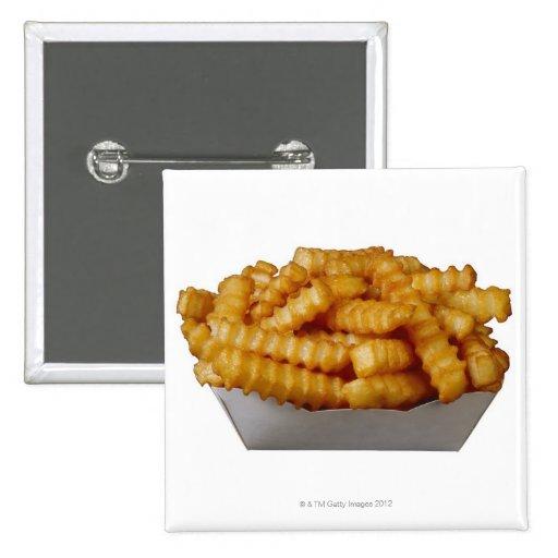 patatas fritas del Arruga-cut Pin Cuadrado