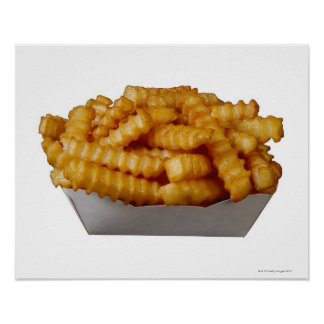 patatas fritas del Arruga-cut Póster