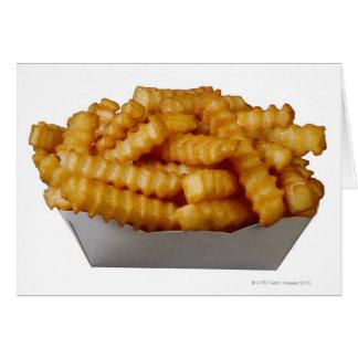 patatas fritas del Arruga-cut Tarjeta De Felicitación