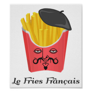 Patatas fritas del Le de Francia Póster