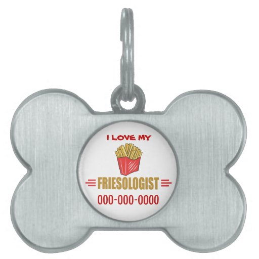 Patatas fritas divertidas placas mascota