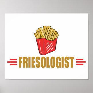 Patatas fritas divertidas póster
