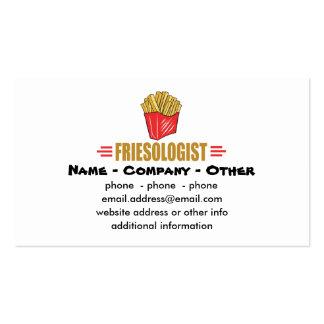 Patatas fritas divertidas plantilla de tarjeta de visita