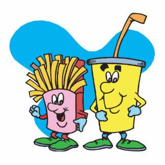 patatas fritas e individuos tontos del refresco fotoescultura vertical