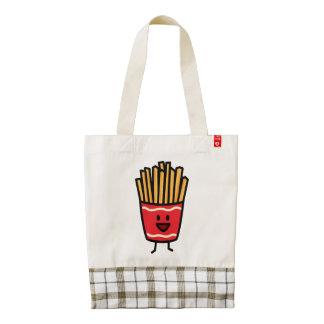 Patatas fritas felices bolsa tote zazzle HEART
