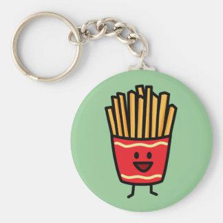 Patatas fritas felices llavero redondo tipo pin