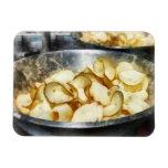 Patatas fritas frescas imanes flexibles