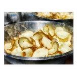 Patatas fritas frescas postal
