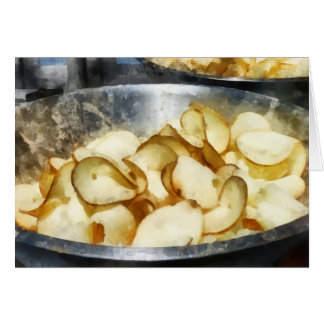 Patatas fritas frescas tarjeta de felicitación
