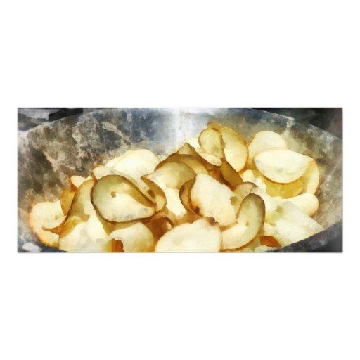 Patatas fritas frescas tarjeta publicitaria personalizada