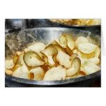 Patatas fritas frescas tarjetas