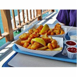 Patatas fritas fritas de los pescados del Fishette Fotoescultura Vertical